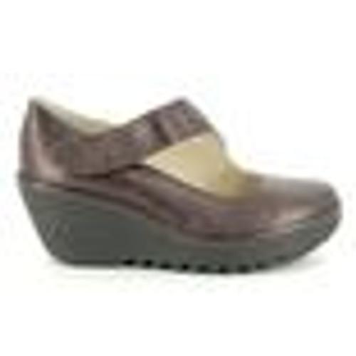 Shoe with Wedge, Burgundy