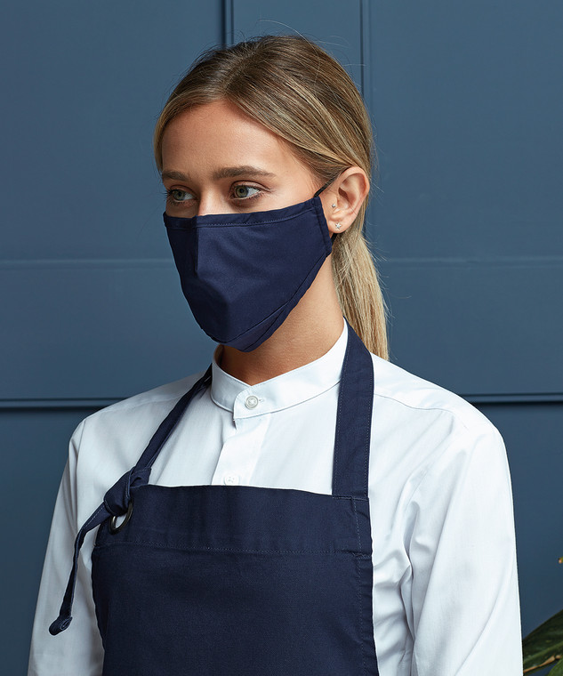 Protective 3-layer fabric mask