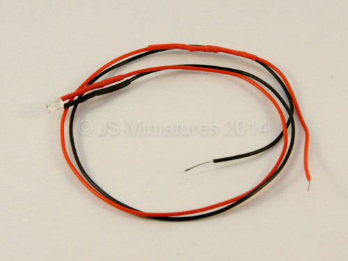 Small Scale Lights 3mm Pre-wired High Brightness LED