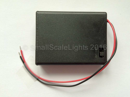 4 x AAA, 6v Battery box with switch