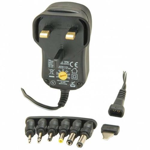 Regulated 3v - 12v adjustable plug in power supply