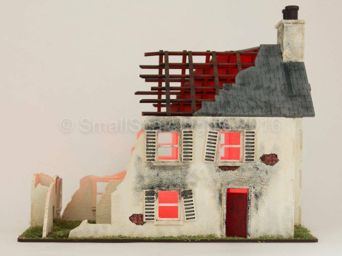 Small Scale Lights Fire / Burning Building Effects Kit