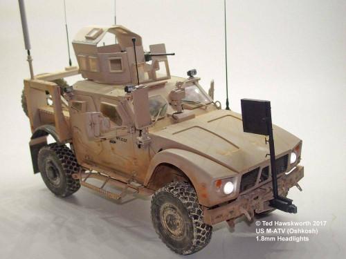 Small Scale Lights 1/16 US M-ATV Oshkosh Lighting Kit