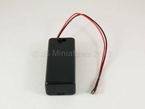 2 x AAA 3 volt Battery box with micro plug socket
