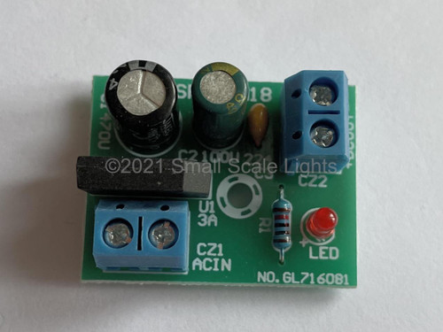 Mini Bridge Rectifier / Filter Module - 3-15v AC to DC