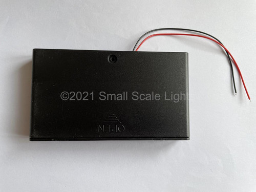 8 x AA 12v Flat Battery box with on/off switch