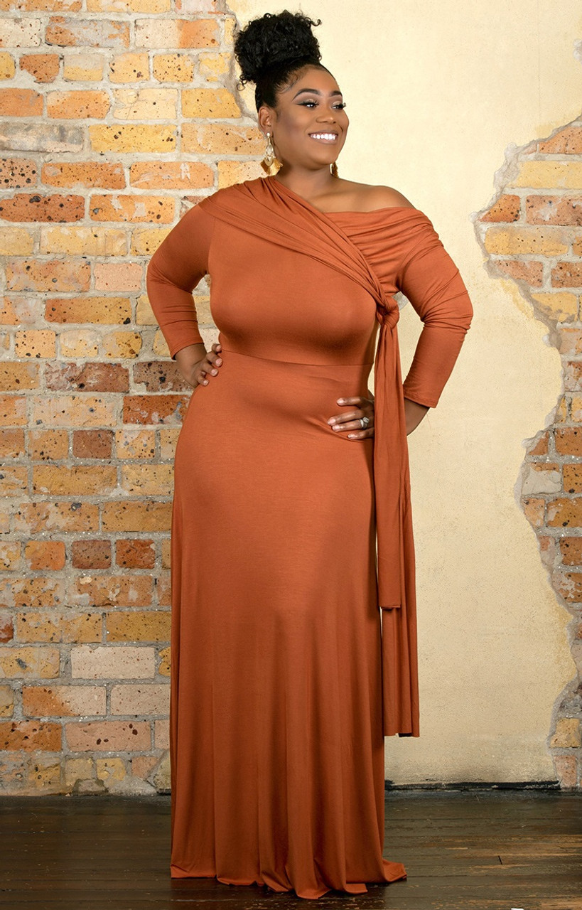 cd8cbcd956d3d Always Stunning Convertible Maxi Dress - Rust - Perfectly Priscilla Boutique