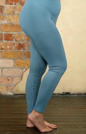 69249f55818 So Very Luxe Ankle Length Leggings - Dusty Blue