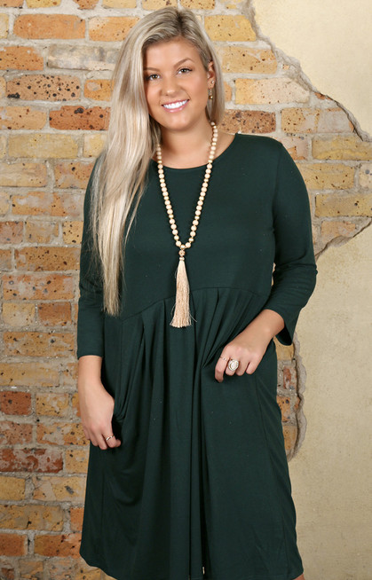 Best Day Ever Dress Hunter Green Perfectly Priscilla Boutique