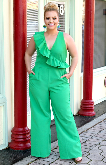 a00c49eb18803 Long Awaited Jumpsuit - Green - Perfectly Priscilla Boutique