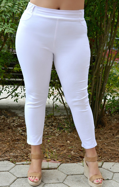 dc0748767d4 Business Casual Crop Pants - White - Perfectly Priscilla Boutique