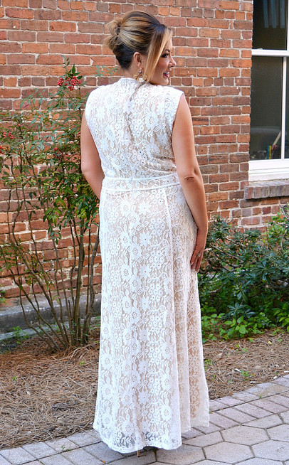 Ivory Lace Maxi Dress