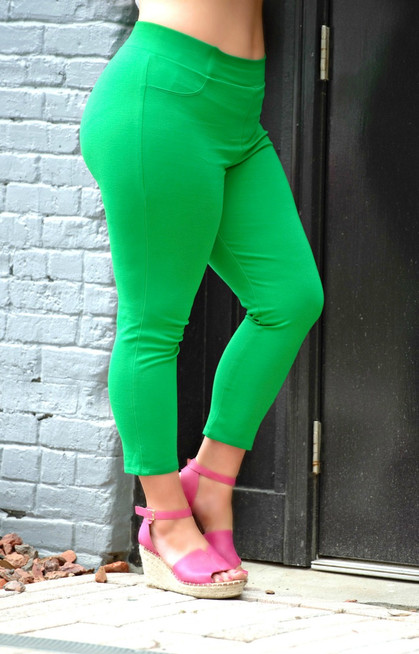 621f3a415c5 Business Casual Crop Pants - Green - Perfectly Priscilla Boutique