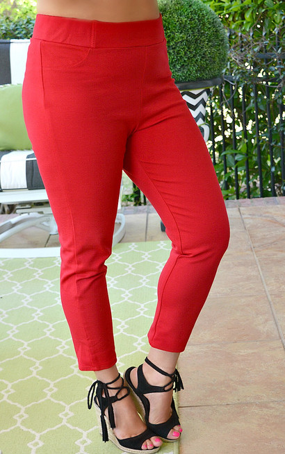 132e9dda172 Business Casual Crop Pants - Red - Perfectly Priscilla Boutique