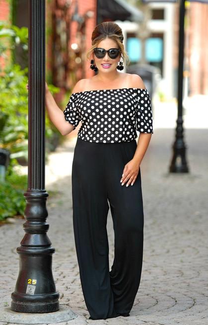 39821fa094 The Hot Spot Polka Dot Jumpsuit - Black White - Perfectly Priscilla Boutique