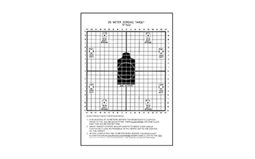 Action Tgt 25 Meters Dod M16a2 100pk