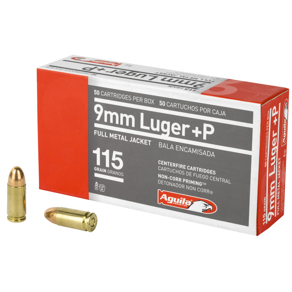 Aguila 9mm +p 115gr Fmj 50/1000