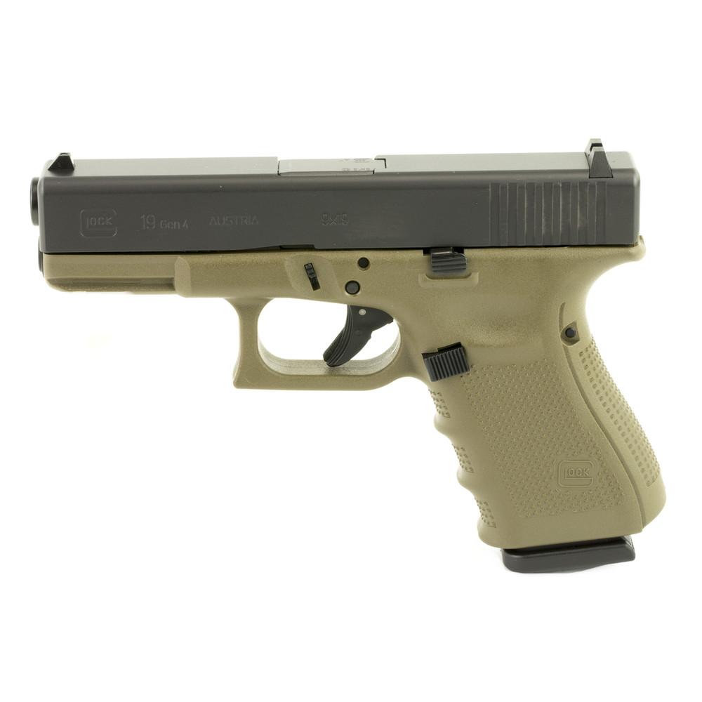 Glock 19 Gen4 9mm 15rd 3 Mags Od