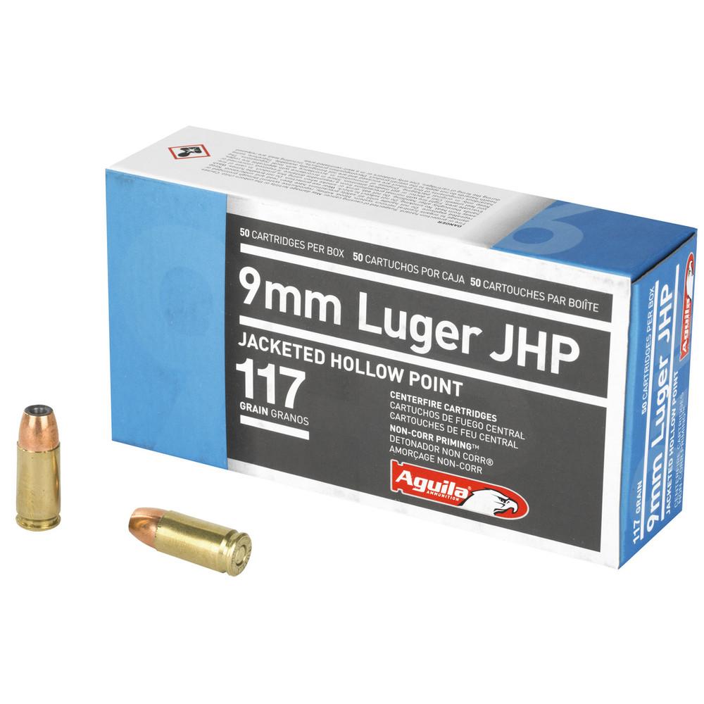 Aguila 9mm 117gr Jhp 50/500