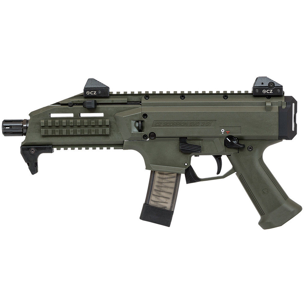 Cz Scorpion Evo3 S1 Od Grn 9mm 20rd