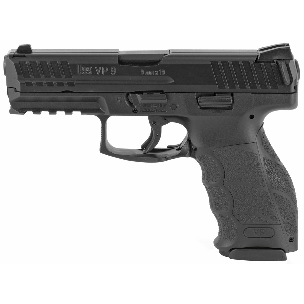 "Hk Vp9 9mm 4.09"" 15rd Blk 2mags"