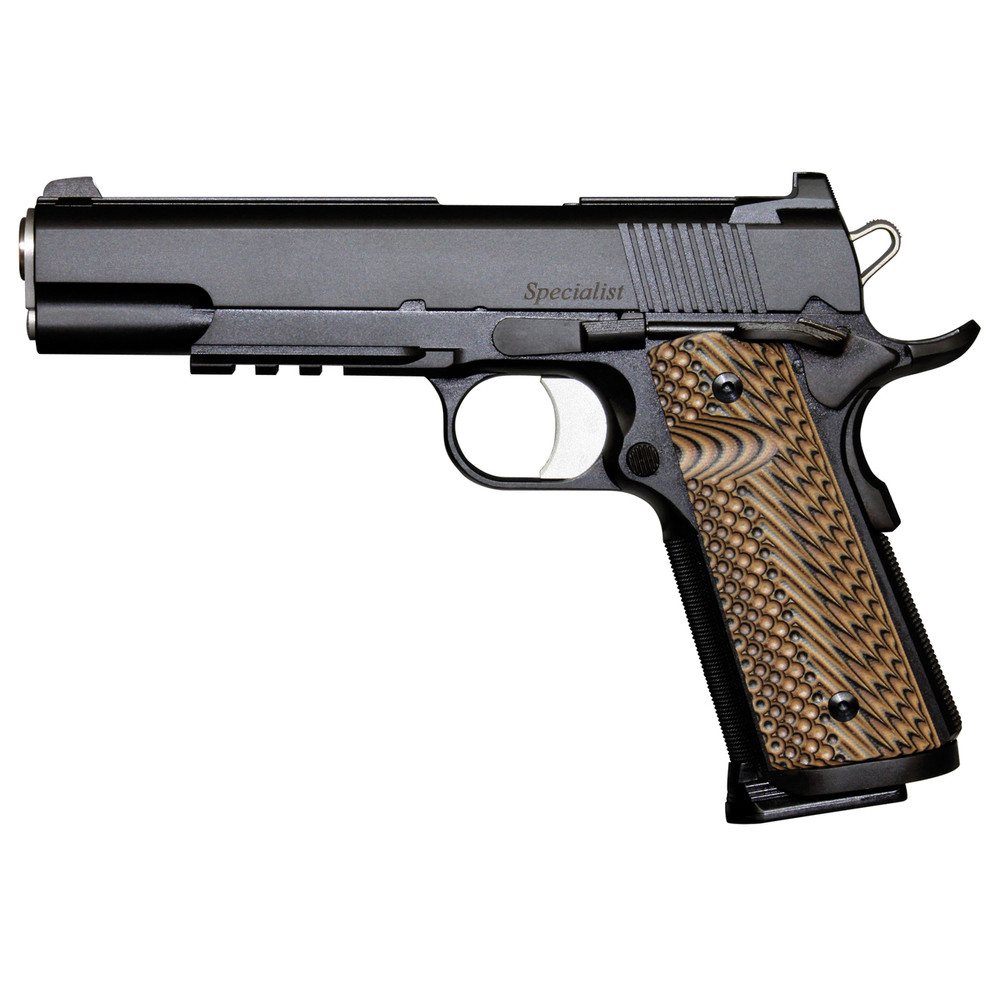 """D Wes Specialist 45acp 5"""" Blk Ns 8rd"""