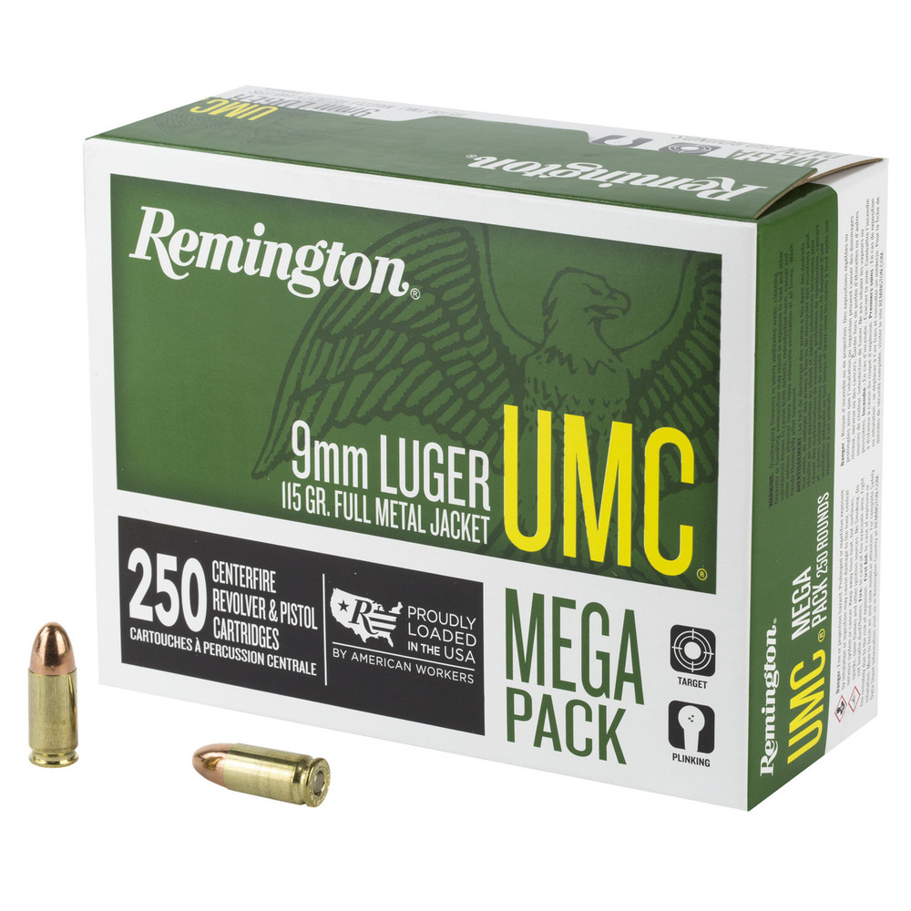 Rem Umc Mp 9mm 115gr Fmj 250/1000