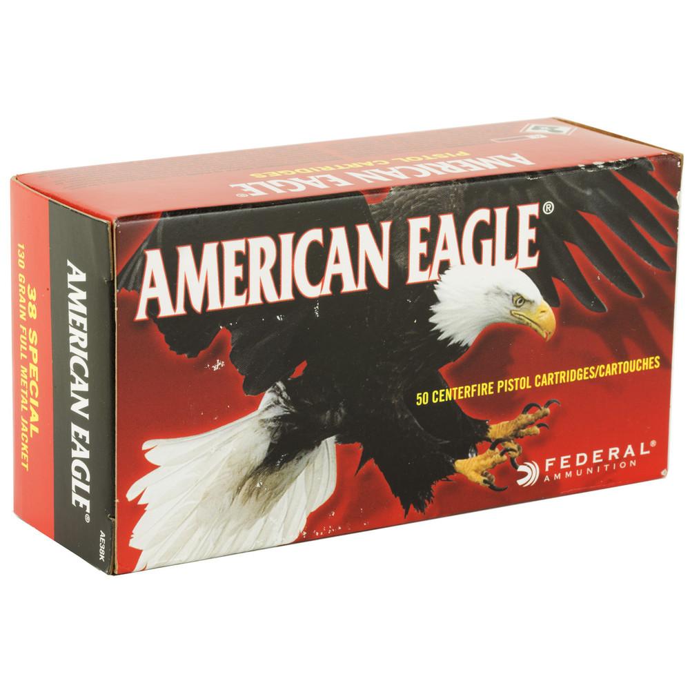 Fed Am Eagle 38spl 130gr Fmj 50/1000