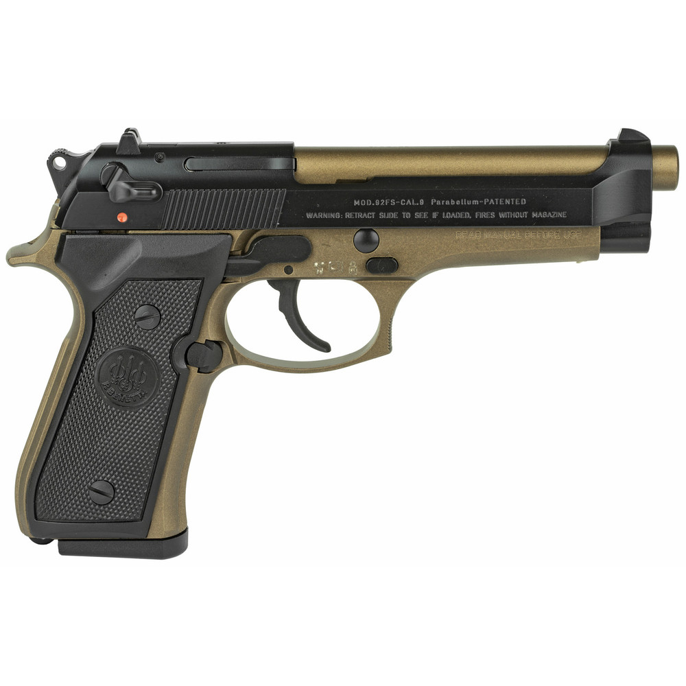 "Beretta 92fs 9mm 4.9"" 2-10rd Bronze"
