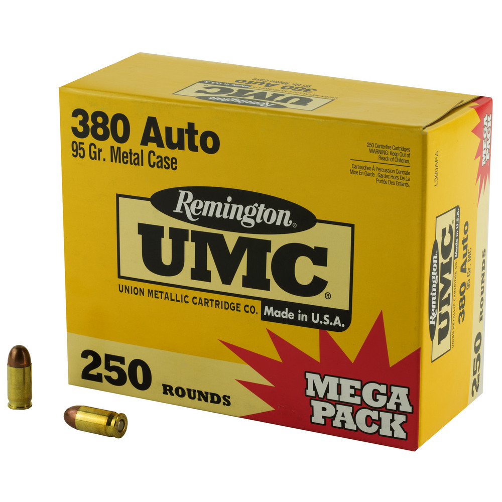 Rem Umc Mp 380acp 95gr Fmj 250/1000