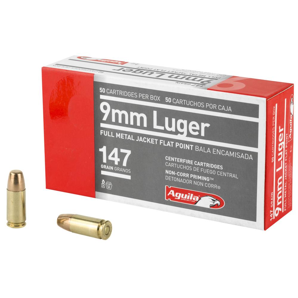 Aguila 9mm 147gr Fmj Fp 50/1000