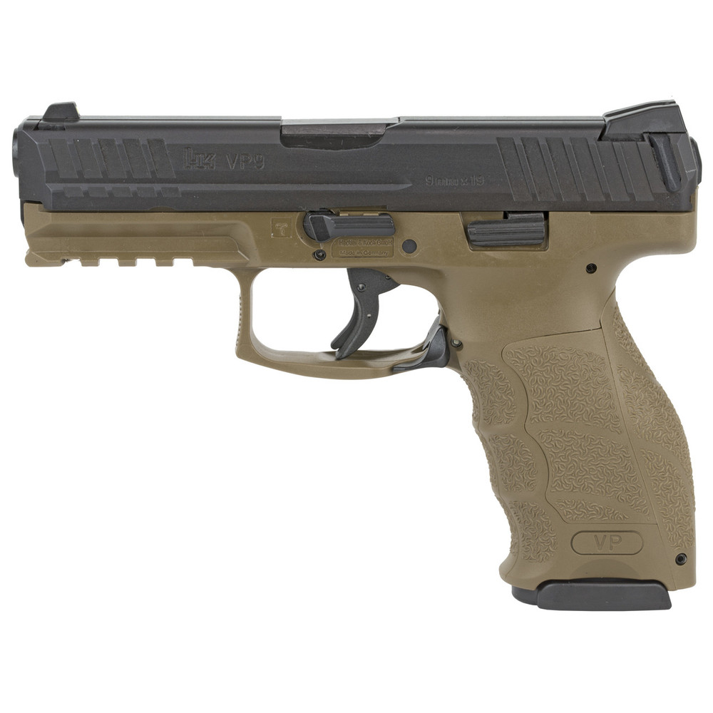 "Hk Vp9 9mm 4.09"" 15rd Fde 2mags"
