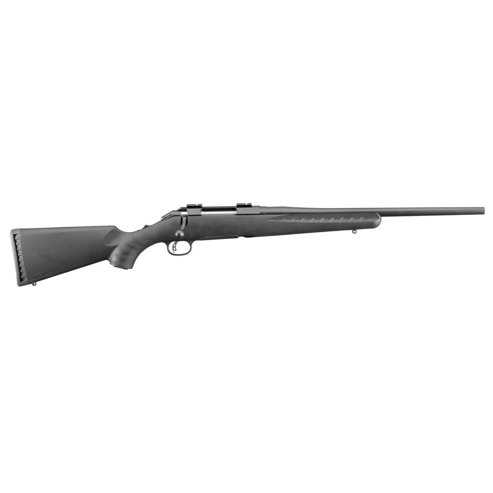 """Ruger American 243win 18"""" Blk 4rd"""