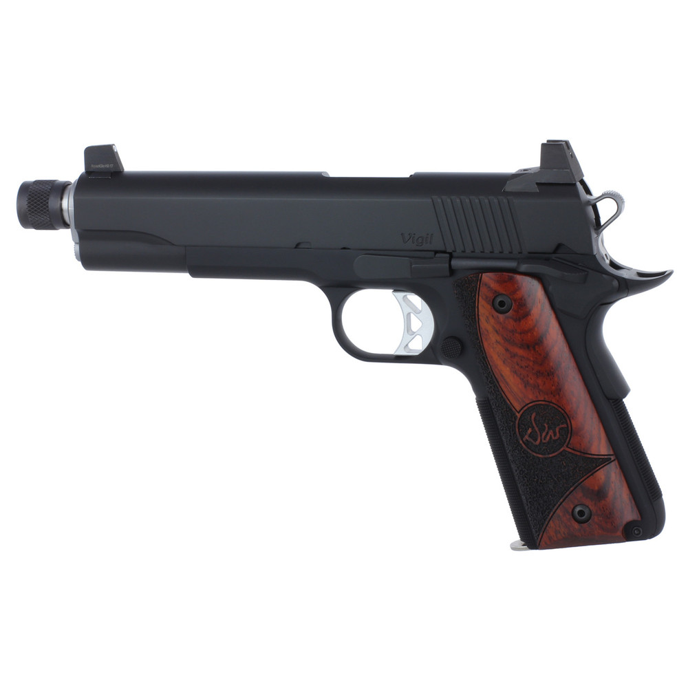 """D Wes Vigil 9mm 5.75"""" Blk Sr 9rd"""
