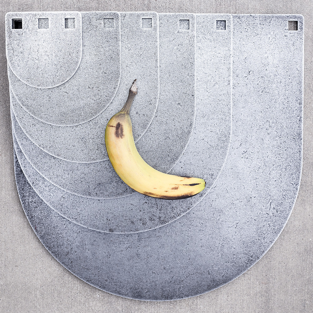 Sketchy looking banana from the shop for scale. Additional gongs not included... Nice try!