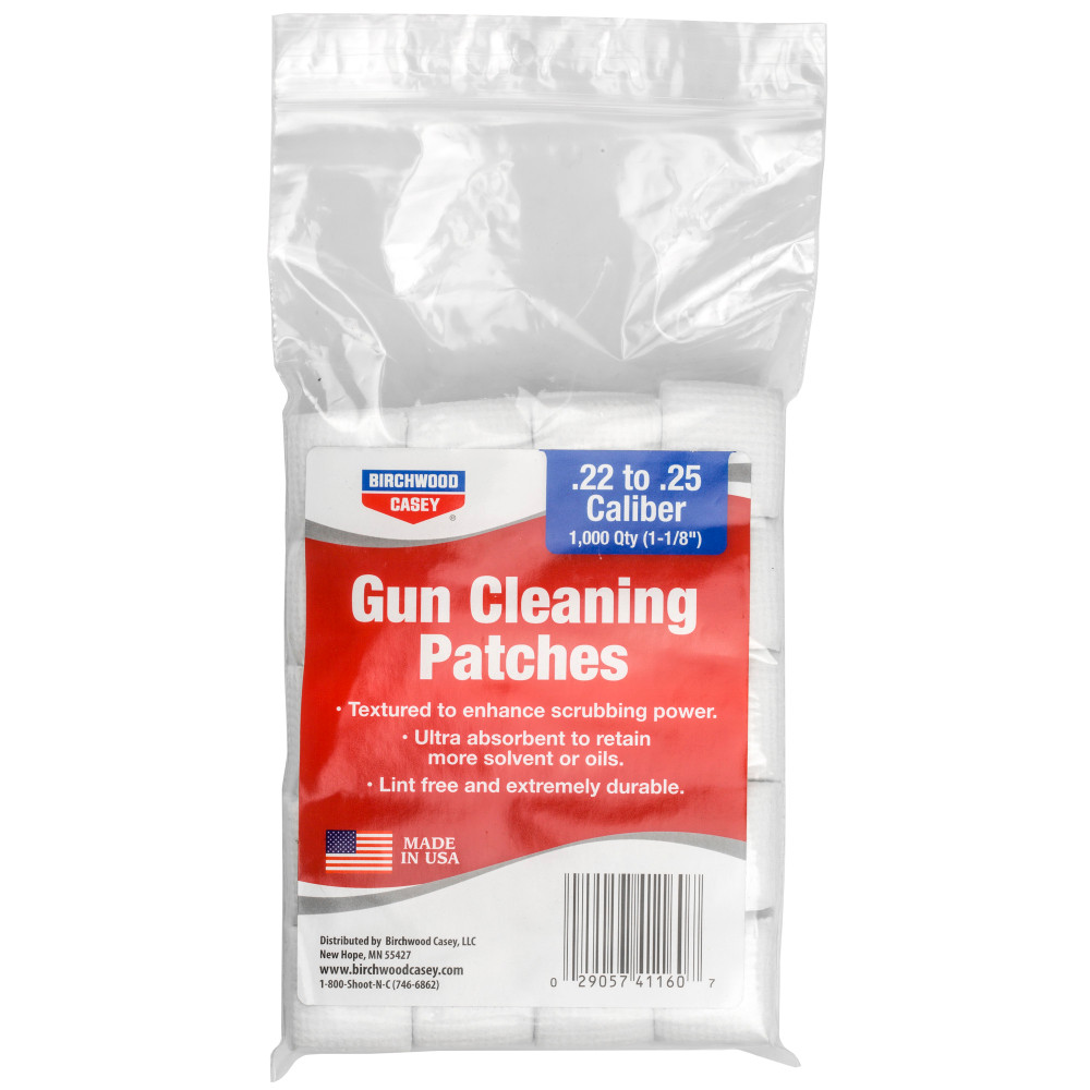 """B/c Patches 1-1/8"""".22-.25cal 1,000pk"""