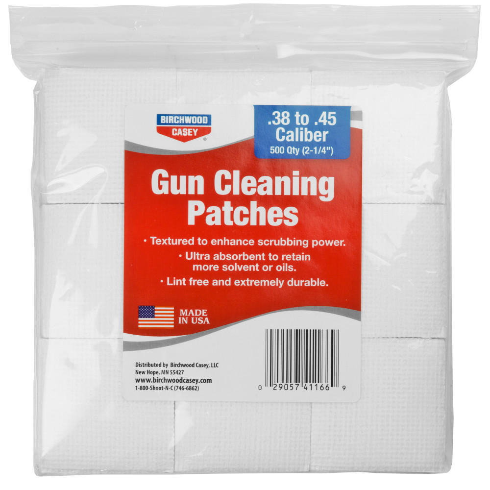 "B/c Patches 2-1/4"" .38-.45 Cal 500pk"