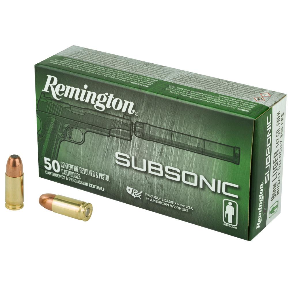 Rem Subsonic 9mm 147gr 50/500