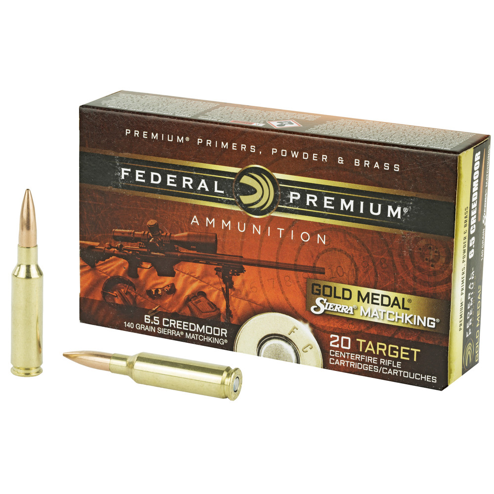Fed Gold Mdl 6.5creed 140gr Smk 20/2