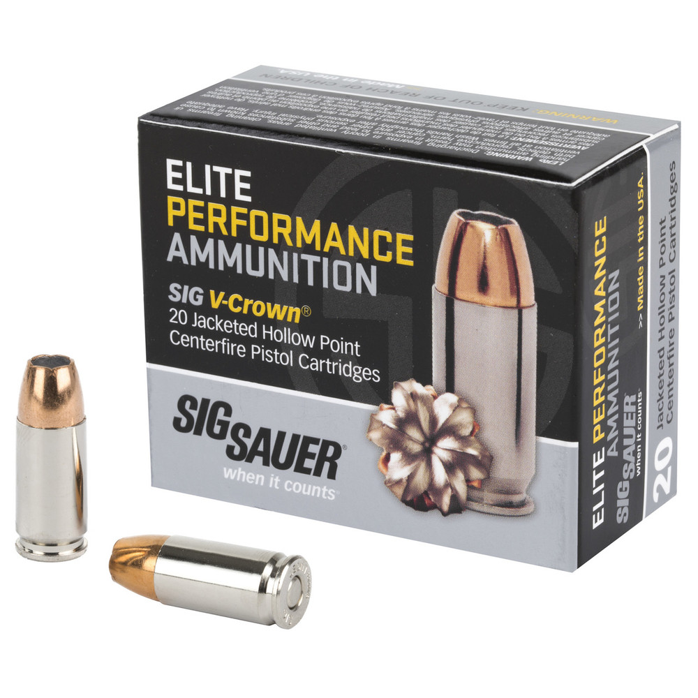 Sig Ammo 9mm 147gr Jhp 20/200