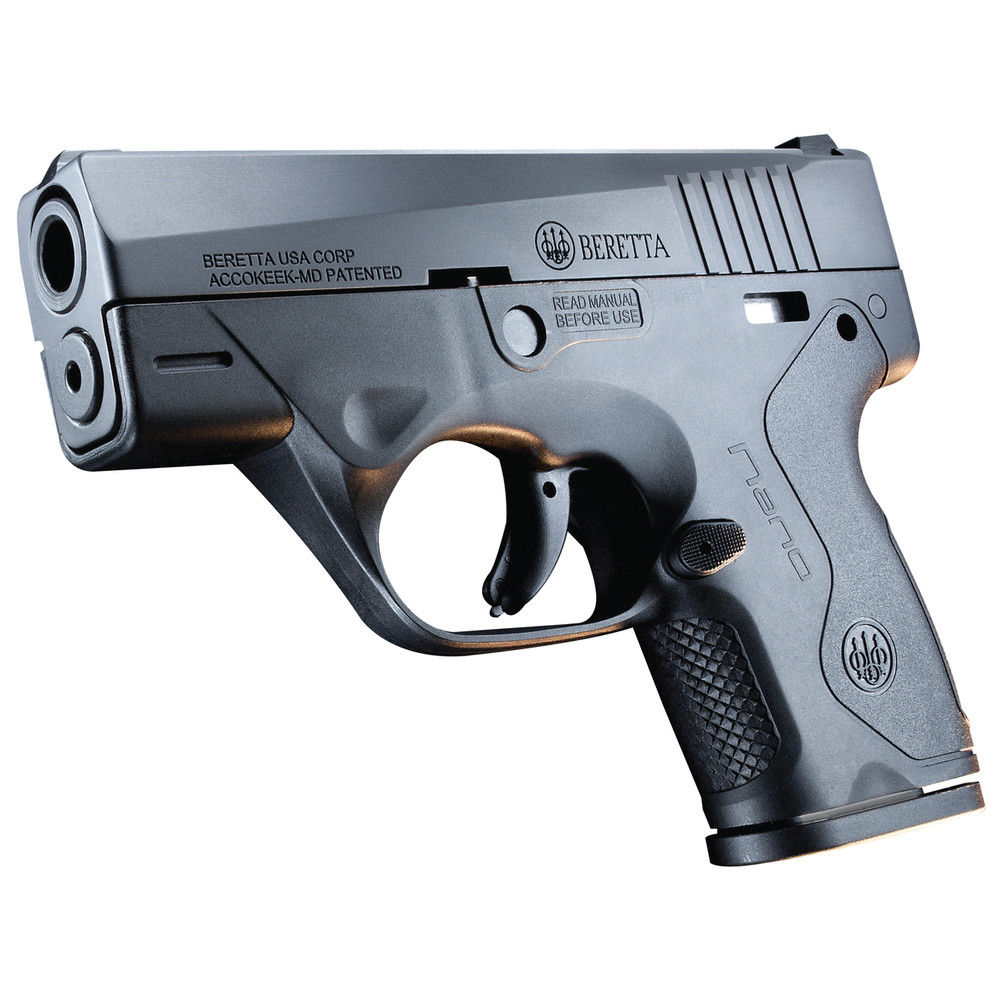 "Beretta Nano 9mm 3"" 6&8rd Blk 3 Dot"