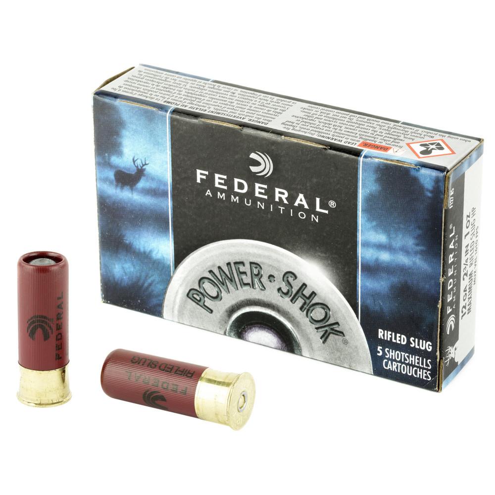 Fed Pwrshk 12ga 2.75 Rfl Slug 5/250