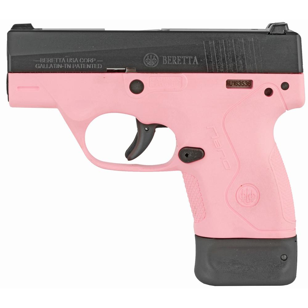 """Beretta Nano 9mm 3"""" 6&8rd Pnk 3 Dot"""