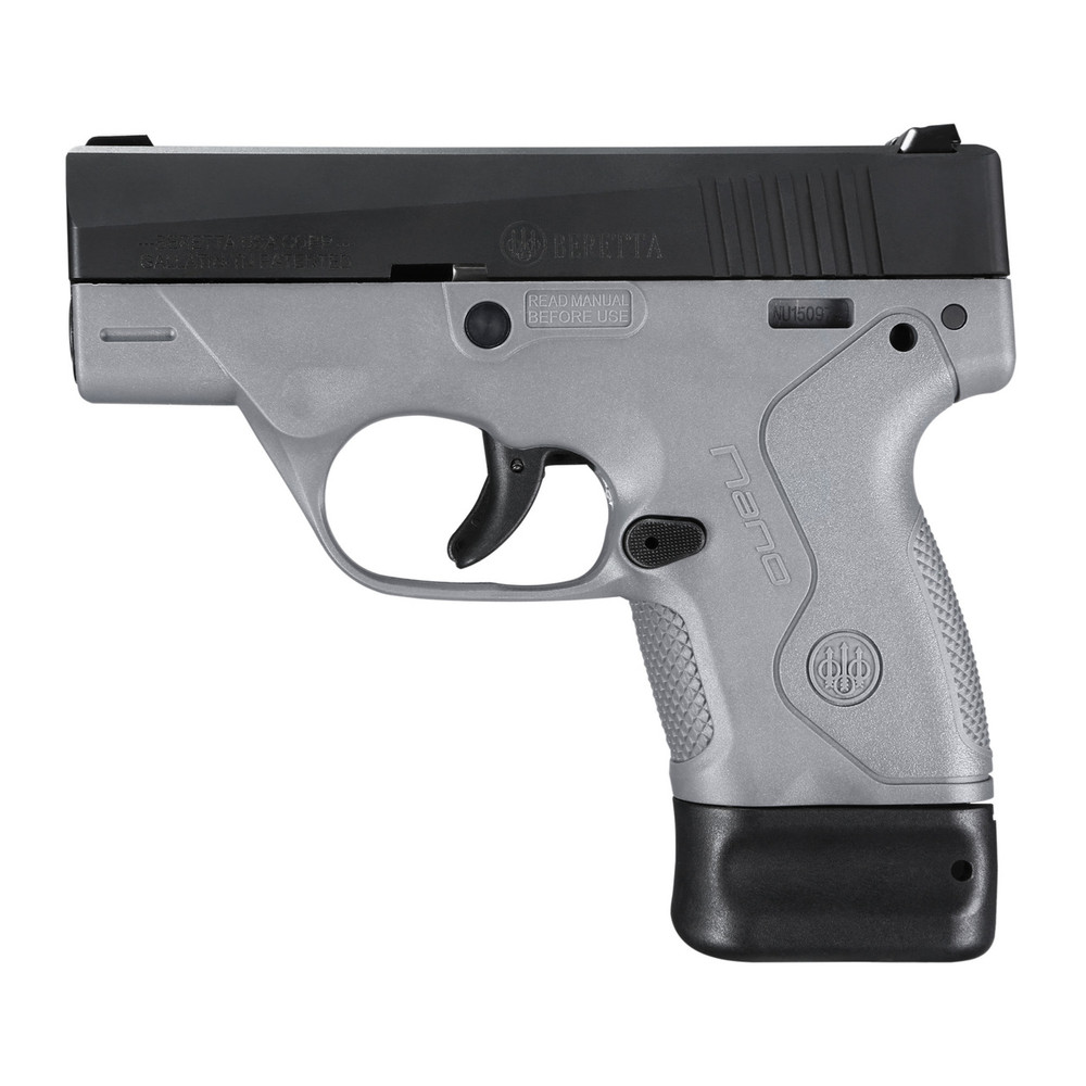 "Beretta Nano 9mm 3"" 6&8rd Gry 3 Dot"