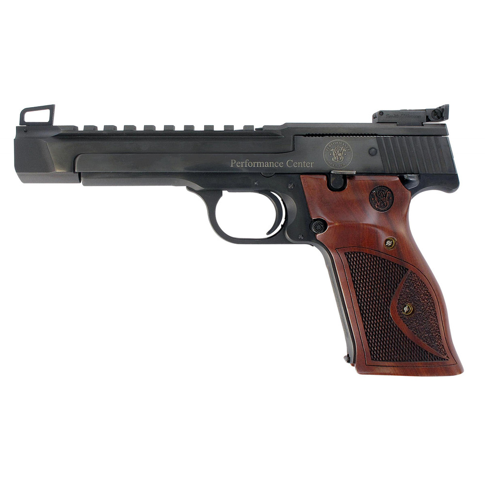 """S&w 41or 5.5"""" 22lr Bl Hb Wd Grips"""