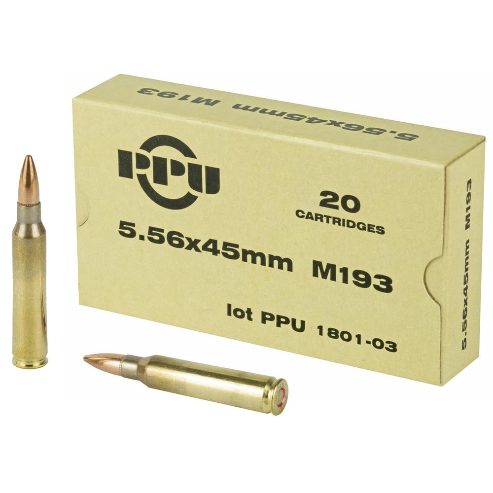 Ppu 556nato M193 55gr Fmj 20/1000