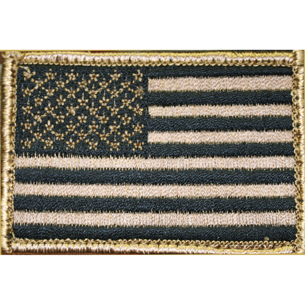 Bh American Flag Patch H&l Tan/blk