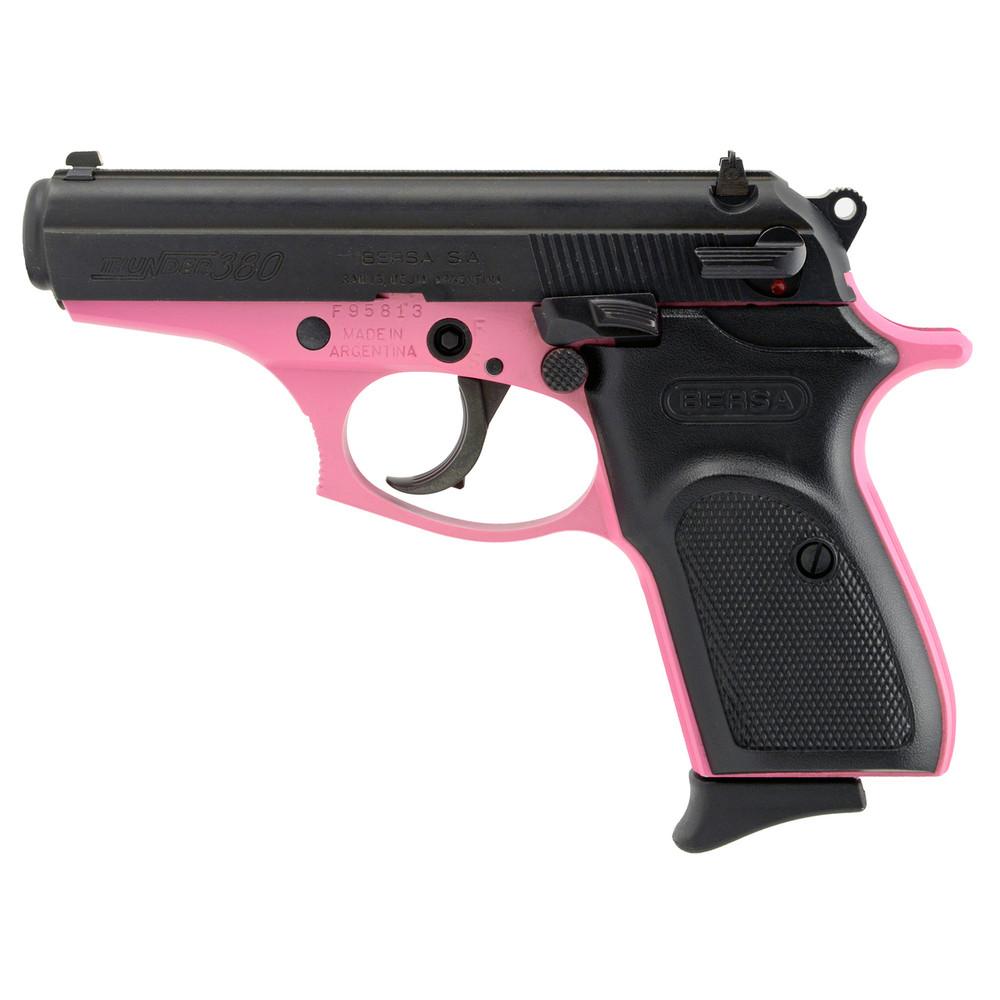 "Bersa Thndr 380 Blk/pink 3.5"" 8rd"
