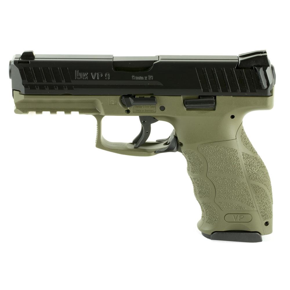 """Hk Vp9 9mm 4.09"""" 10rd Odg 2mags"""