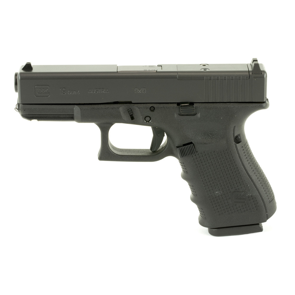 Glock 19 Gen4 9mm 10rd 3 Mags Mos